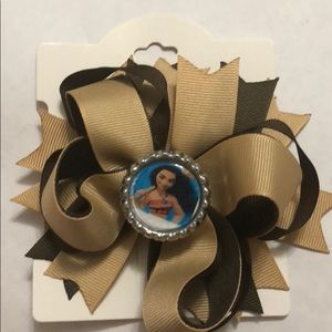 Moana Brown girls hair bow